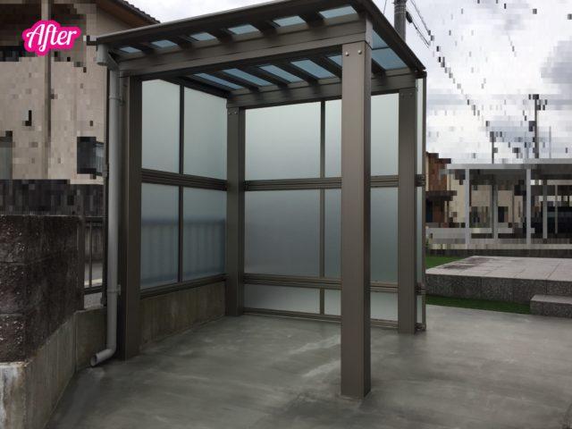 自転車置き場 庭 エクステリア 外構 富山 ステージ