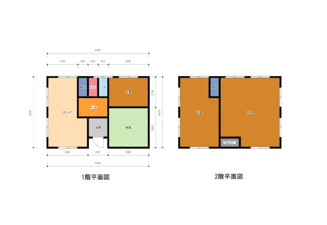 建物平面図例