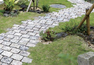 欧州石畳 玄関アプローチ