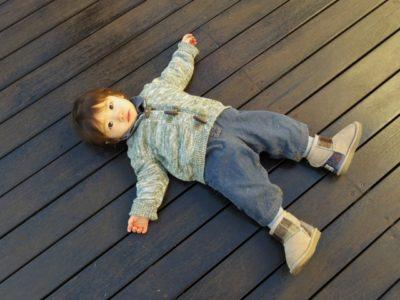 子供 デッキ テラス 庭